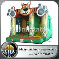 Bouncy slide with roof,Tiger commercial bounce,Bouncy slides factory