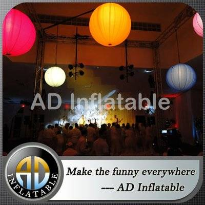 Customized inflatable led lighting balloon ceiling decoration for club party eclairage