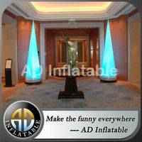 Inflatable LED Lighting Column,Decoration inflatable cone,Light cone balloon