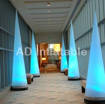 Inflatable cone with led light, inflatable led column, led illuminated inflatables