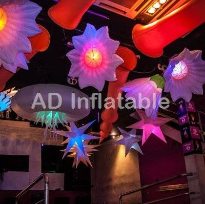 Inflatable lighting colorful led flower advertising