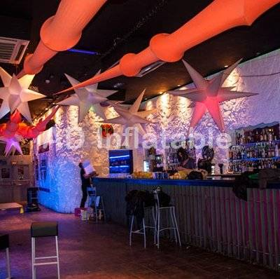 Fatanstic Decoration Wedding Inflatable Flowers, hanging inflatable flower with led for party