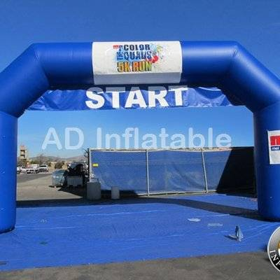 Finish line inflatable arch for event advertising