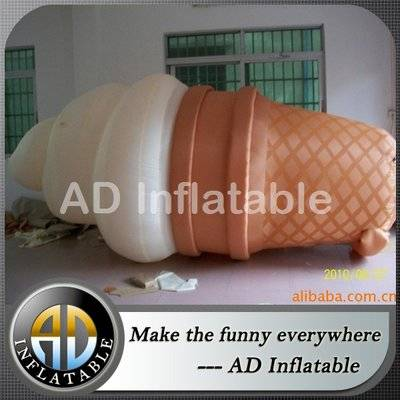 Inflatable ice cream cone for advertising and promotion