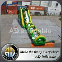 Inflatable tropical slip,Tropical blown water slide,Tropical wet dry slide