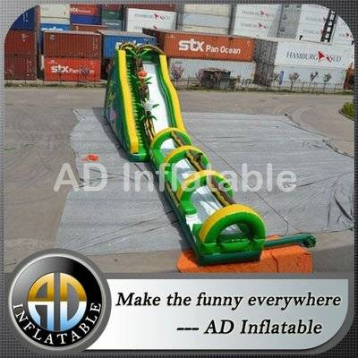 Inflatable jungle water slide, outdoor summer beach slide jumping castle, inflatable tropical slip