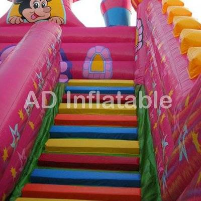 Magic mickey mouse commercial inflatable jumping slide for party rental