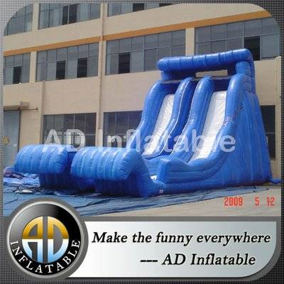 Giant adult outdoor double splash inflatable water slide for sale