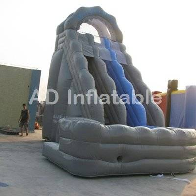 Inflatable curved water slide with pool, wild rapids water slides