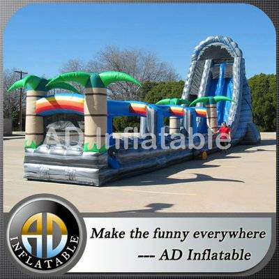 Jungle theme long slip roaring river water slide, 27' Roaring River Extreme Dual Lane Waterslides