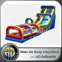Water slip and slide,Inflatable Slide with Sllip,Single Lane Slide