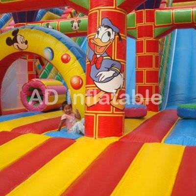 Mickey inflatable slide, inflatable mickey bouncer and slide, disney mickey mouse park slide