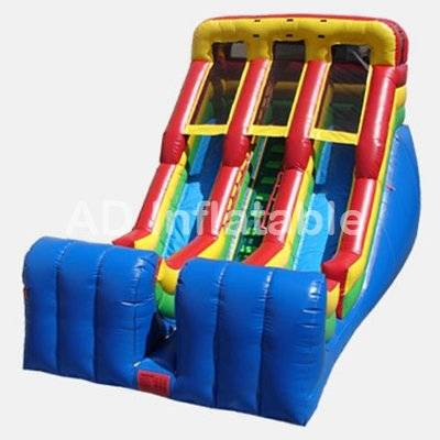 18' Double Lane Slide with ladder adult inflatable water slides