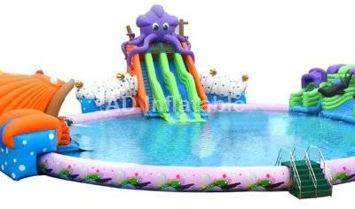 Octopus inflatable giant water park game swimming water slides
