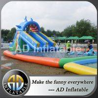 Swimming pools with waterslide,Inflatable water pool park,Giant inflatable pool park