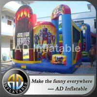 Justice league blown jumper,5 in 1 combo,Superheros bounce house