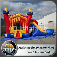 3 in 1 inflatable Castle,Bouncy water slide,Wet Dry slide