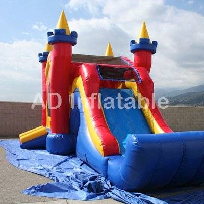 Inflatable 3 in 1 Castle Wet Dry bouncy water slide
