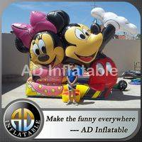 Mickey and minnie castle,Inflatable castle games,Blown mickey jumping castle
