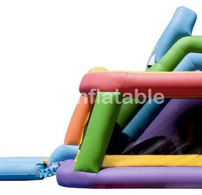 Wet n dry inflatable combo Inflatable Slide Castle Combo with pool