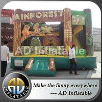 Rain forest bounce house,Inflatable Play Structure,Commercial bounce house