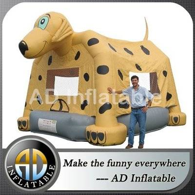 PVC commercial spotty dog animal inflatable bouncer big bounce houses for sale