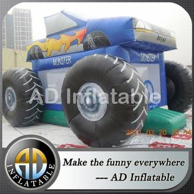 Outdoor Commercial Backyard Monster Truck Bounce House for Sale