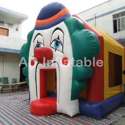 Funny clown inflatable house residential bounce house