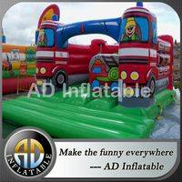 Fire truck bounce house,Inflatable moon walker,Fire engine truck bounce house