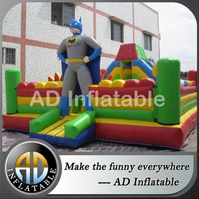 Batman kids inflatable outdoor playground, batman inflatable play center