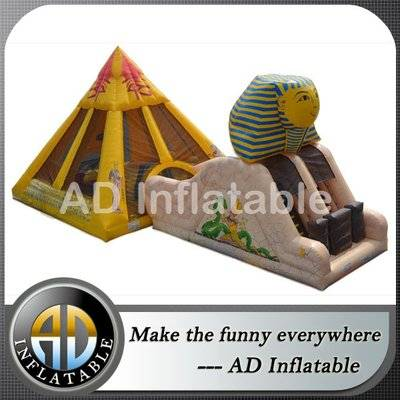 Egypt inflatable castle slide combo Pyramid Inflatable attraction