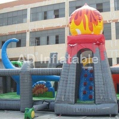 Jungle arena commercial inflatable bouncer giant jurassic inflatable fun city