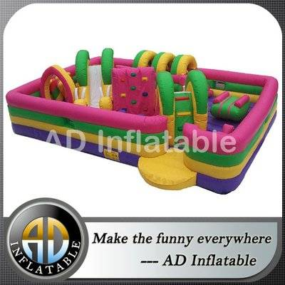 Kids zone obstacle courses for sale, inflatable adventure run for sale