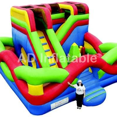 Moebius colorful inflatable maze combo inflatable commercial obstacle course