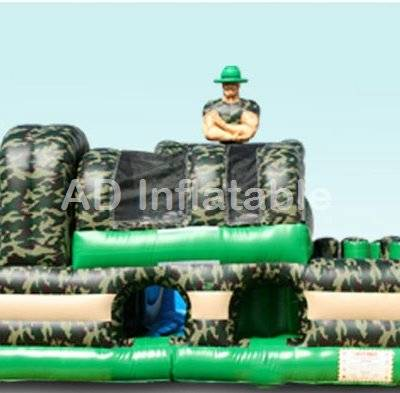 Marine jungle boot camp obstacle course slide for energy challenge