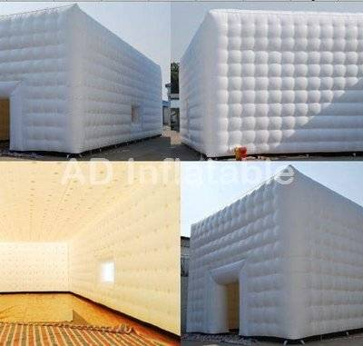 Giant white cube inflatable event tent for sale/ inflatable tents for events