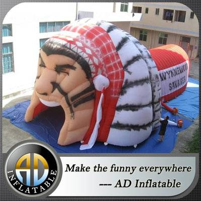 Inflatable helmet tent inflatable helmet tunnel inflatable football tunnel warrior tunnel