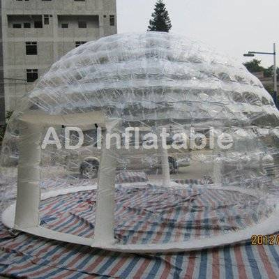Airtight double layer event camping inflatable transparent dome rental for exhibition
