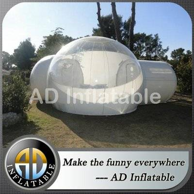 Clear inflatable transparent bubble lawn tent price with floor bottom