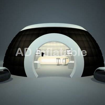White and black custom large event inflatable party dome tents