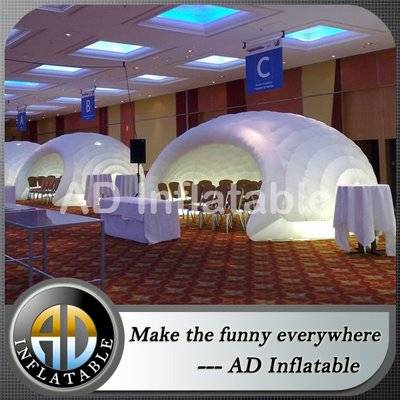 Wholesale lighting inflatable igloo tent inflatable office tent