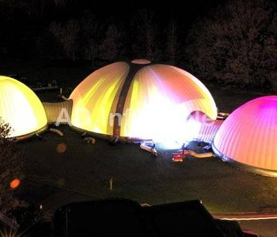 Inflatable Structures for corporate event, inflatable colorful tent light