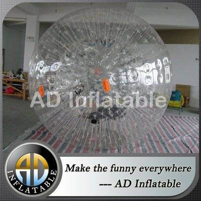 Giant grass rolling human inflatable body zorb ball for kids