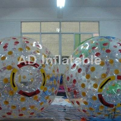 Inflatable clear plastic zorb water balls, inflatable water zorb ball