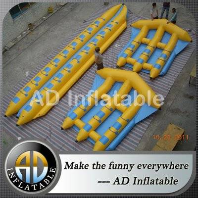 Inflatable flying fish towable, flying inflatable water sled, towable inflatable tube
