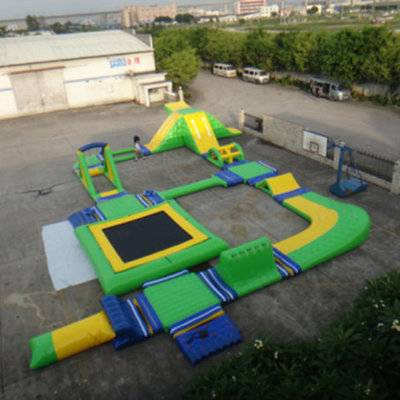 Custom Giant Inflatable Water Park, inflatable floating aqua park