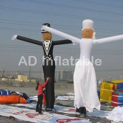The bride and the bridegroom wedding decoration inflatable air dancer, inflatable wedding air dancer