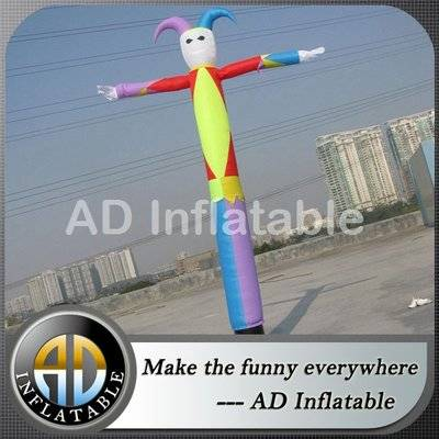 Clown inflatable sky air dancer dancing man/inflatable sky man for sale