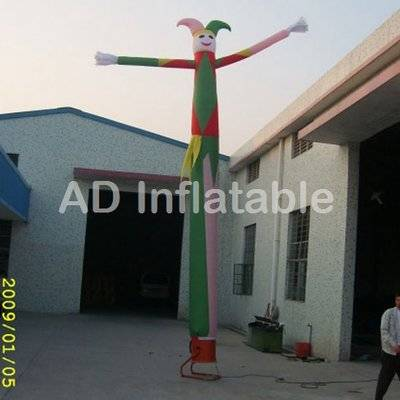 Clown man air dancer,inflatable air dancing inflatable wind man