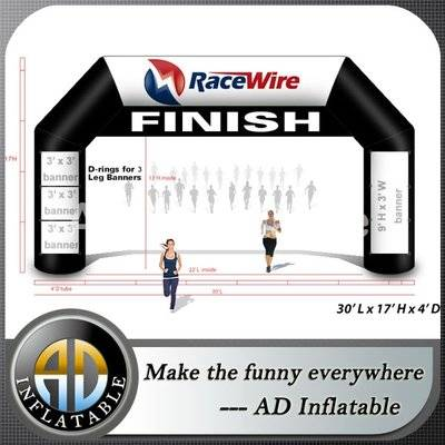 Inflatable finish line Arch for marathon racing, race arrive and finish inflatable arch